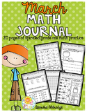 Math Journal March (Common Core Aligned)