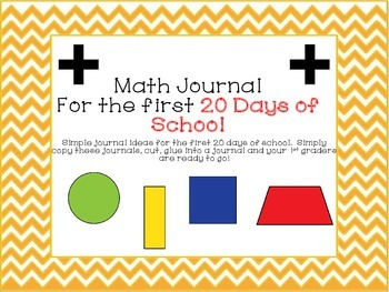 Math Journal For The First 20 Days of 1st Grade