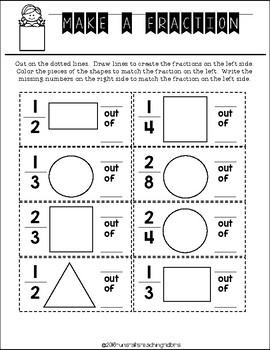 Math Journal Freebie K-3 Geometry