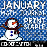 Math Journal January (Kindergarten)