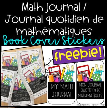 Math Journal / Journal de maths Sticker Cover FREEBIE!