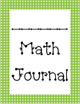 Math Journal Label