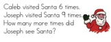 Math Journal Label Prompts for December