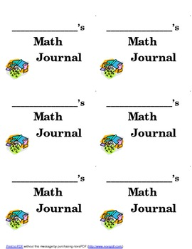 Math Journal:  Labels