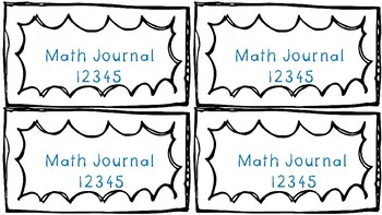 Math Journal Labels