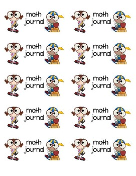 "Math Journal Labels (Avery 2""x4"")"