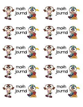 "Math Journal Labels (Avery 2""x4"")"