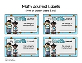 Math Journal Labels  {Free}