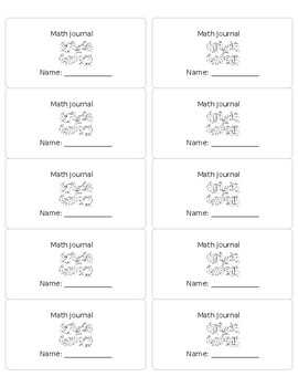 Math Journal Labels (editable)