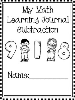 Math Journal Intro to Subtraction- Includes Practice with Multiple Strategies