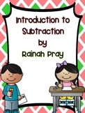 Math Journal Intro to Subtraction- Includes Practice with