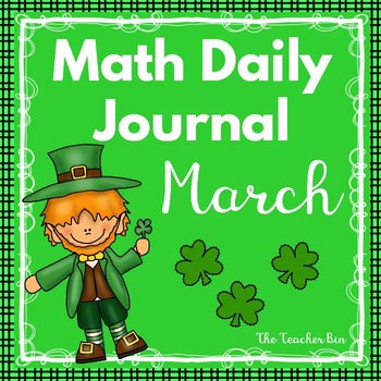 Kindergarten - Special Education - Math Daily Journal March - NO PREP