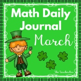 Kindergarten - Special Education - Math Daily Journal - March