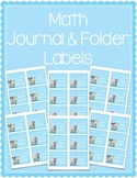 Math Journal & Math Folder Labels