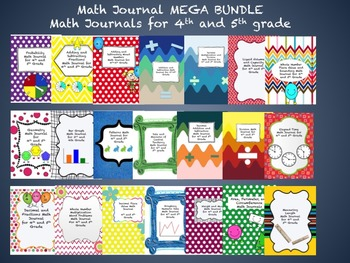 Math Journal Mega BUNDLE for 4th and 5th Grade