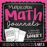5th Grade Multiplication Math Journal