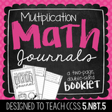 5th Grade Multiplication Math Journal