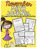 Math Journal November (Common Core Aligned)