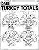 Math Journal November (Kindergarten)