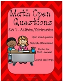 Math Journal - Open Questions