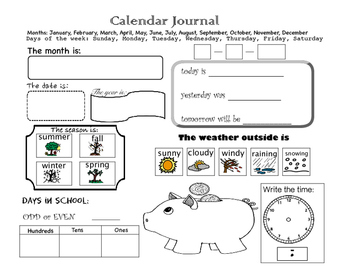 Math Journal Page
