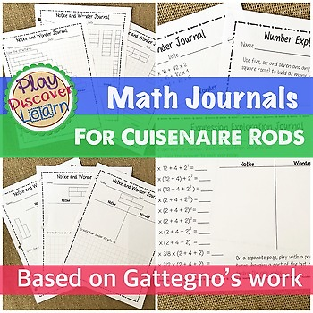 Math Journal Pages for Cuisenaire Rods