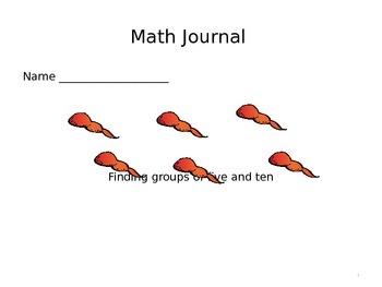Math Journal Pages for Kindergarten