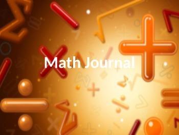 Math Journal Powerpoint