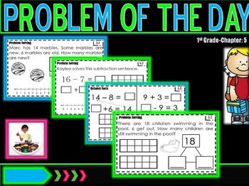 """Problem of the Day """"Go Math"""" Ch. 5"""