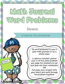Math Journal Problems Division