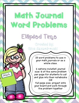 Math Journal Problems Elapsed Time