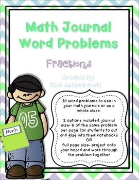 Math Journal Problems Fractions