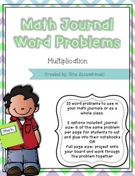 Math Journal Problems Multiplication