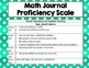 Math Journal Proficiency Scale and Anchor Chart