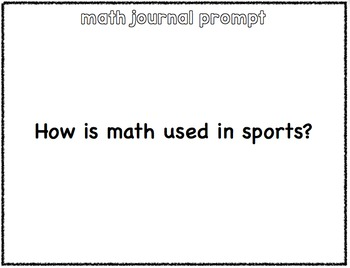 Math Journal Prompts- 2nd-4th grade  12 weeks of prompts- 54 in all