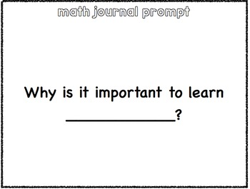 Math Journal Prompts- 2nd-4th grade  12 weeks of prompts-