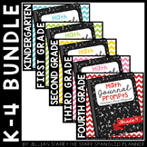 Math Journal Prompts {Aligned to Common Core} K-4 Bundle