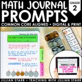Math Journal Prompts (Common Core Aligned) Grade 2 | Dista