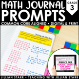 Math Journal Prompts (Common Core Aligned) Grade 3 | Distance Learning