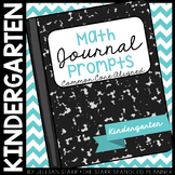 Math Journal Prompts {Aligned to the Common Core} Kindergarten
