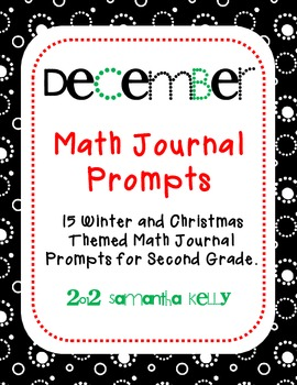 December Math Journal Prompts for 2nd Grade