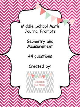 Math Journal Prompts (Essential Questions for Geometry and