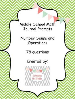 Math Journal Prompts (Essential Questions for Numbers and Operations)