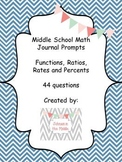 Math Journal Prompts (Essential Questions for Ratios, Perc