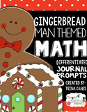 Math Journal Prompts Gingerbread Man