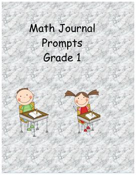 Math Journal Prompts- Grade 1