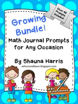 Math Journal Prompts Growing Bundle!