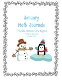 Math Journal Prompts January
