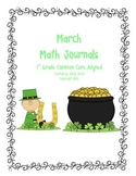 Math Journal Prompts March