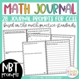 Math Journal Prompts Number and Operations in Base Ten